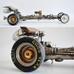 Siêu phẩm xe được tạo từ phần hơi của kèn Saxophone và một phần xe volga đồ chơi