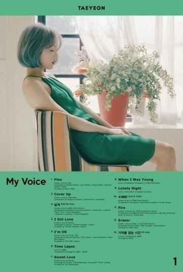 Full album đầu tay có tựa đềMy Voicecủa Taeyeon.