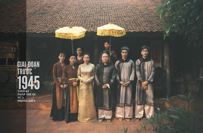 Cặp đôi tái hiện lại đám cưới ở Việt Nam trong thời kỳ lịch sử với trang phục áo dài truyền thống
