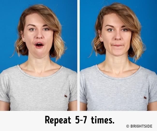 7 bài tập cực đơn giản nhưng hiệu quả nhất để có cằm xinh, mặt trẻ - Ảnh 2.
