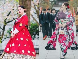 Rủ nhau hóa thân thành Geisha, dàn sao Việt đẹp rạng rỡ trên đất Nhật