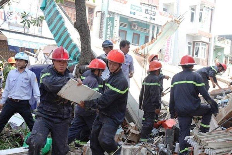 sập nhà,công trình xây dựng,tai nạn công trình xây dựng,Quy Nhơn