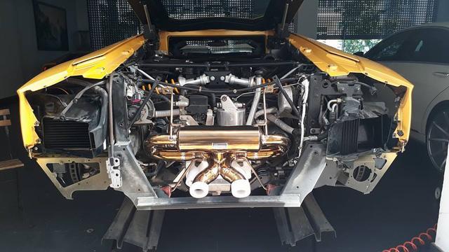 Lamborghini Aventador biển tứ quý 9 độ pô IPE trong nhà Cường Đô-la - Ảnh 3.
