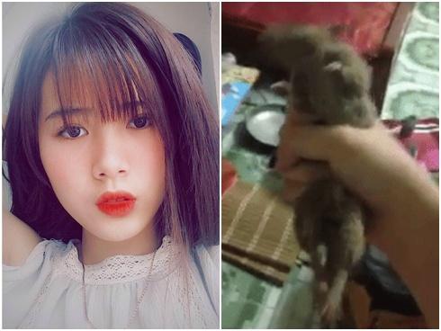 Cô gái gây tranh cãi khi đăng clip tự bắt và bóp chết con chuột trên tay
