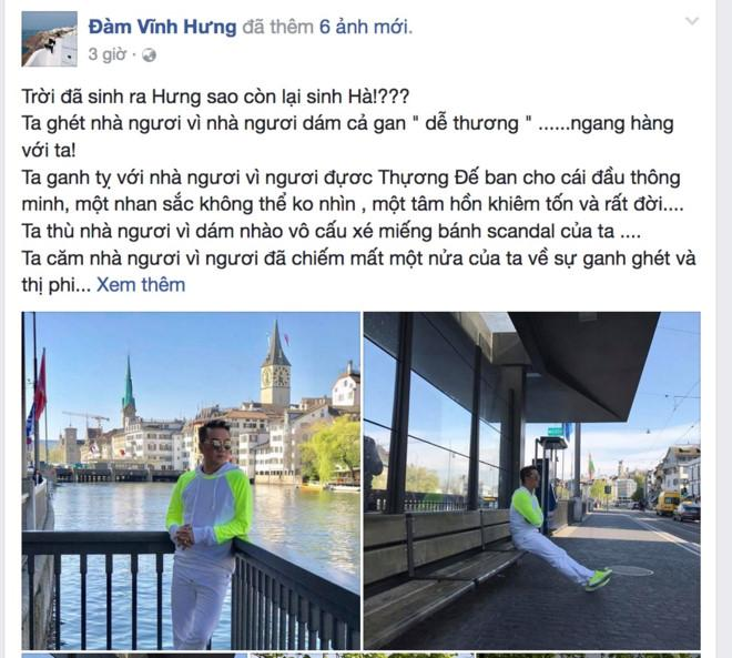 Dam Vinh Hung viet cho Ho Ngoc Ha: 'Troi sinh Hung sao con sinh Ha' hinh anh 3