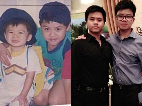 Không chỉ hot-teen Việt, anh em Phan Thành cũng theo trào lưu khoe ảnh tấm bé