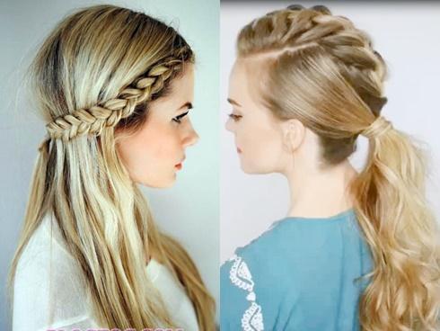 Biến hóa với 4 kiểu tóc tết giữa đỉnh đầu siêu đẹp chỉ với 5 phút