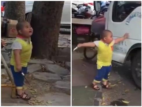 Trung Quốc: Cậu bé 5 tuổi cầm dao uy hiếp nữ tài xế ngay ở chốn đông người