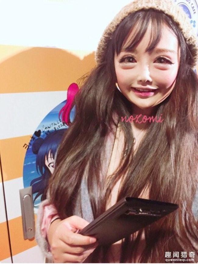 Cô gái được mệnh danh người đẹp anime Nhật Bản: Sự kết hợp kinh dị giữa công nghệ thẩm mỹ, hóa trang và photoshop - Ảnh 6.