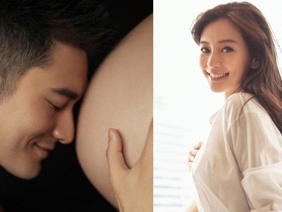 Một tấm ảnh của Huỳnh Hiểu Minh đã dập tắt tin đồn Angela Baby nhờ mang thai hộ