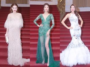 Thời trang thảm đỏ tuần qua: Minh Hằng đeo đồng hồ tỷ rưỡi, Hồ Ngọc Hà diện váy 350 triệu