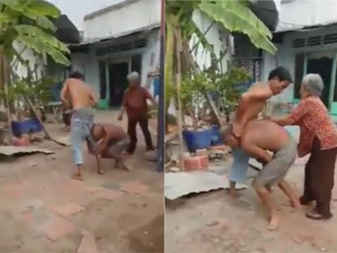 Mặc cháu gái van xin, người cậu ruột không ngừng đánh bố mẹ già yếu hơn 80 tuổi