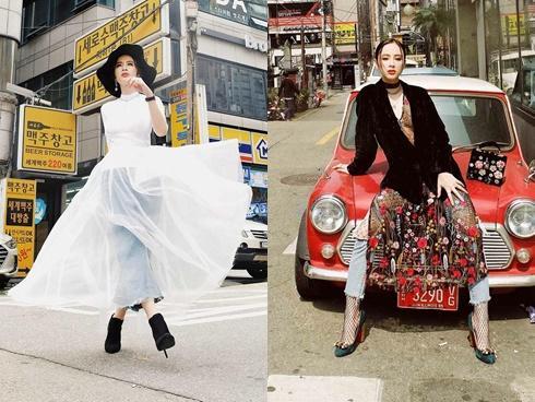 Angela Phương Trinh 'đại náo' phố phường Hàn Quốc với bộ sưu tập đầu tay