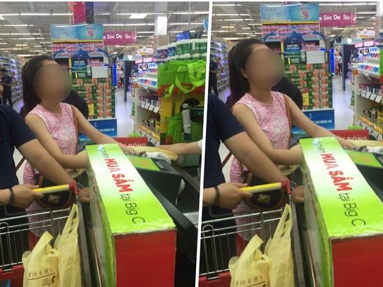 Cô gái xinh đẹp có hành động và câu nói xấu hổ giữa siêu thị Hà Nội