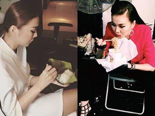Những bữa ăn đạm bạc và tạm bợ của siêu mẫu Thanh Hằng sau hào quang