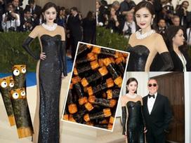 Dương Mịch bị chế giễu trông như 'miếng cơm cuộn rong biển' khi dự Met Gala