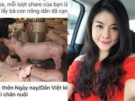 Biên tập viên VTV Kim Oanh mua nửa tấn lợn tặng bà con vùng sâu