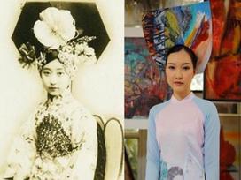 Mặc áo dài Việt, sao lại đội mũ Hoàn Châu cách cách?