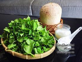 Sinh tố rau má nước dừa mát lạnh cho mùa hè