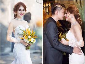Ngắm trọn bộ ảnh cưới tuyệt đẹp của Lâm Chi Khanh và 'phi công' kém 8 tuổi