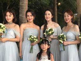 Mặc tin đồn bầu bí, Lưu Diệc Phi vẫn đẹp xuất sắc khi làm phù dâu cho đám cưới bạn