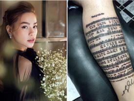 Hồ Ngọc Hà 'choáng' với fan cuồng xăm cả lời bài hát và chữ ký của mình lên chân
