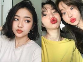 Cùng chạy theo xu hướng 'mặt phù cằm nhọn', gái Việt và gái Hàn giống nhau y xì đúc