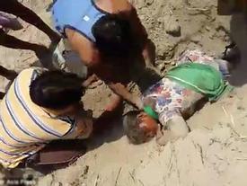 Tranh chấp đất đai, cô gái 19 tuổi suýt bị chôn sống