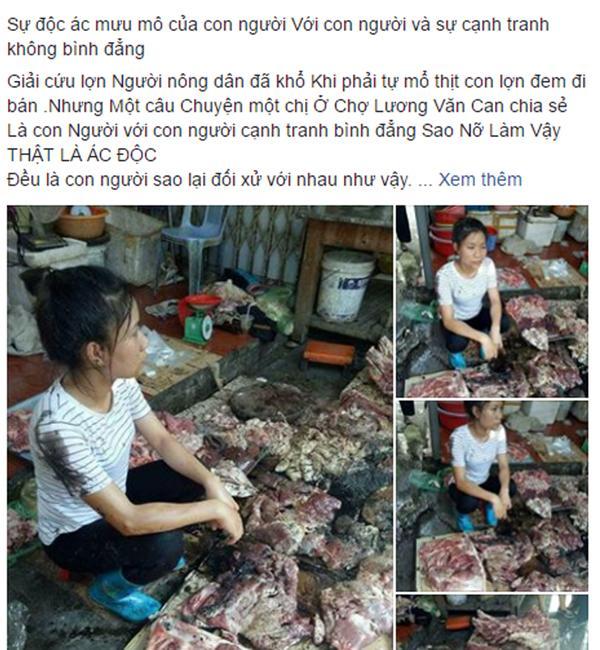 Hải Phòng: Cả chục cân thịt lợn của người phụ nữ bị tạt dầu luyn vì bán giá rẻ khiến dư luận phẫn nộ - Ảnh 1.