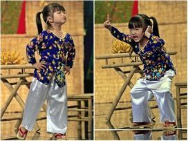 Tiếu lâm tứ trụ nhí: 'Bà tám' 4 tuổi độc thoại khiến cả sân khấu bùng nổ