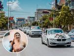 Dàn 'xế hộp' đắt tiền rước dâu gây xôn xao tại Quảng Ninh