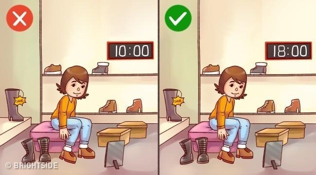 Chọn giày dép lúc nào cũng vừa in chân nhờ 12 bí kíp này