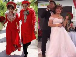 Hát tặng 'vợ mập', hot boy trà sữa Lê Tấn Lợi khiến vợ khóc ngay trong ngày cưới