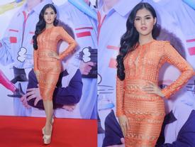 Bản sao Ngọc Trinh gợi cảm đi sự kiện sau khi tự nhận mình là Hoa hậu Hoàn vũ 2017