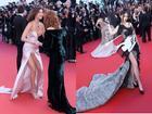 Diện váy xẻ cao, siêu mẫu Bella Hadid lộ phần nhạy cảm trên thảm đỏ LHP Cannes