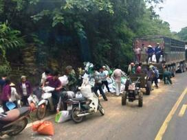 Ảnh hot trong tuần: Mang công nông đi 'hôi của' người tai nạn ở Hòa Bình