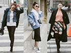 Diện áo lông xuống phố, Trà Ngọc Hằng biến hóa với phong cách street style cực sành điệu