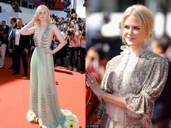 Cặp bài trùng Nicole Kidman - Elle Fanning hóa 'tiên nữ' trên thảm đỏ Cannes ngày 5