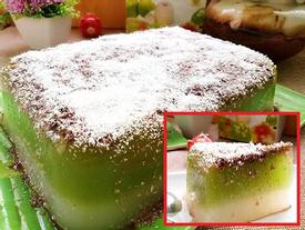 Bánh thạch trà xanh sữa dừa vừa mát vừa bùi, ai cũng thích mê