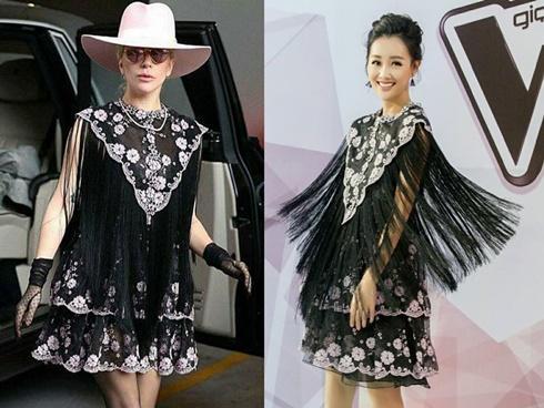 MC Quỳnh Chi đụng váy hàng hiệu 47 triệu đồng với Lady Gaga
