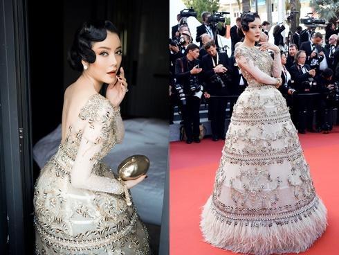 Lý Nhã Kỳ đẹp hút hồn tại Cannes, tung 'chiêu độc' với váy Việt Nam 10.000 USD