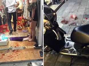 Đôi nam nữ bị chém gục trên phố Hàng Bông
