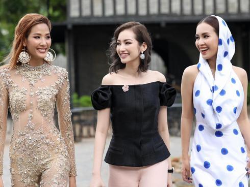 Ái Phương, Trúc Diễm tiếp sức cho Hoàng Thùy tại 'The Face 2017'