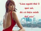 Siêu mẫu Hà Anh: 'Làm người thứ 3 quá sai,  dù có biện minh như thế nào'