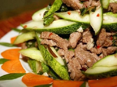 Cách làm dưa chuột xào thịt bò lạ miệng, hấp dẫn