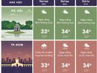 Thời tiết đầu tuần: Hà Nội nắng nóng, Sài Gòn nguy cơ ngập vì mưa lớn