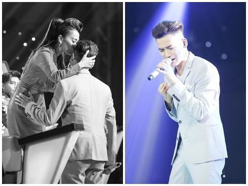 Ali Hoàng Dương lấy nước mắt của khán giả khi song ca cùng Thu Minh qua màn hình led