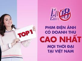 Soán ngôi 'Kong', phim ăn khách nhất lịch sử điện ảnh Việt thuộc về 'Em chưa 18'