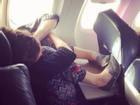 Ảnh hài: 'Ngã ngửa' khi bắt gặp cảnh này trên máy bay