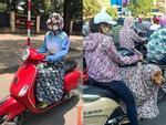 Muôn kiểu thời trang chống nắng bá đạo của người Hà Nội ngày oi bức